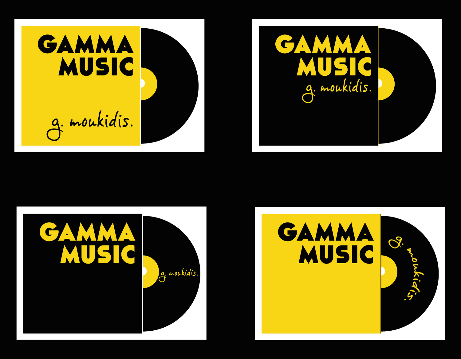 Gamma Music music production company logo drafts